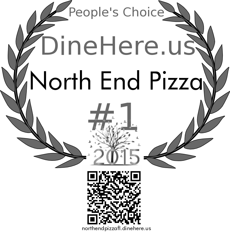 North End Pizza DineHere.us 2015 Award Winner